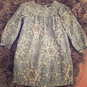 Baby Gap corduroy blue/offwhite dress- 4T